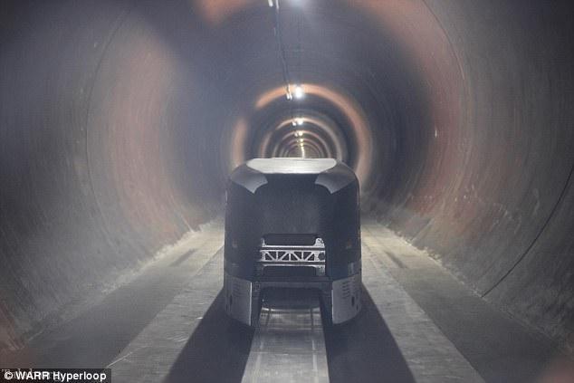 ساخت نمونه ای از هايپرلوپ «سریع ترین سیستم حمل و نقل جهان»