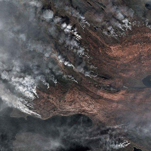 باران آتش نگران کننده در سرزمین یخها