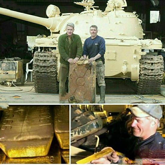 5 کیلو طلا در تانک جنگ (عکس)