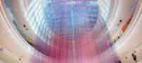 طراحی رنگین کمان در بزرگترین مرکز خرید آمریکا