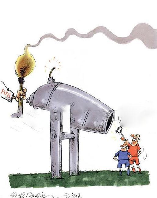 کاریکاتور عجیب استقلال و پرسپولیس با حکم فیفا