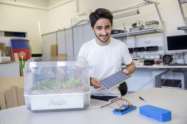 ساخت باغچه معلق بدون خاک توسط دانشجوی ایرانی