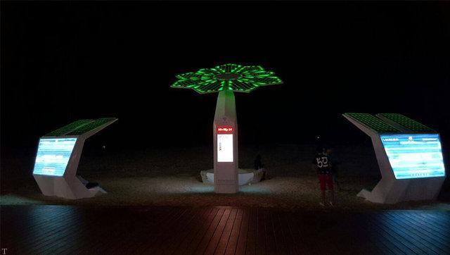 درختان هوشمند خورشیدی در دبی (عکس)