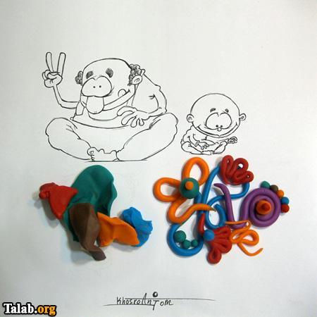 نقاشی های ترکیبی با اشیا (2)