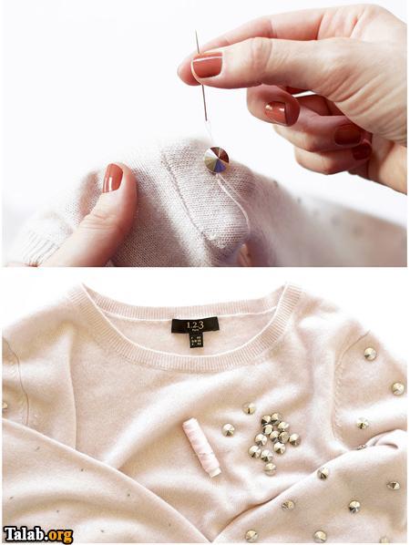 تزیین ساده لباس به روایت تصویر
