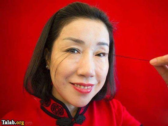 با بلند ترین مژه چشم توسط این زن چینی در جهان آشنا شوید !!