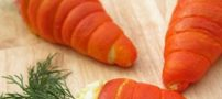 آموزش تصویری تهیه هویج شکم پر با سالاد الویه