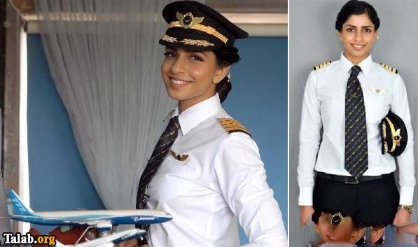 زیبا و جوانترین زن خلبان در دنیا