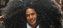 عکس عجیب از موهای طولانی این مرد !
