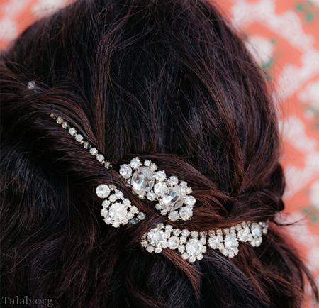 نحوه ی درست کردن تاج مو عروس