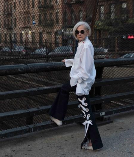 تصاویری از پیرترین مدل زن