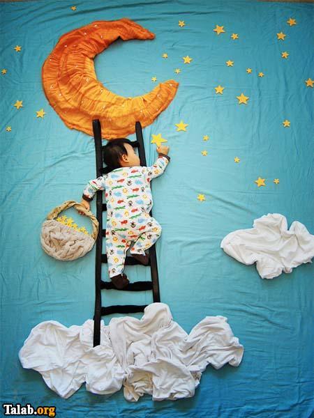 تصاویر جالب از خلاقیت های دیدنی خواب کودکان