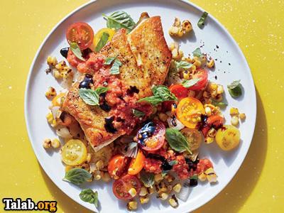آموزش تهیه ماهی با سبزیجات تابستانی