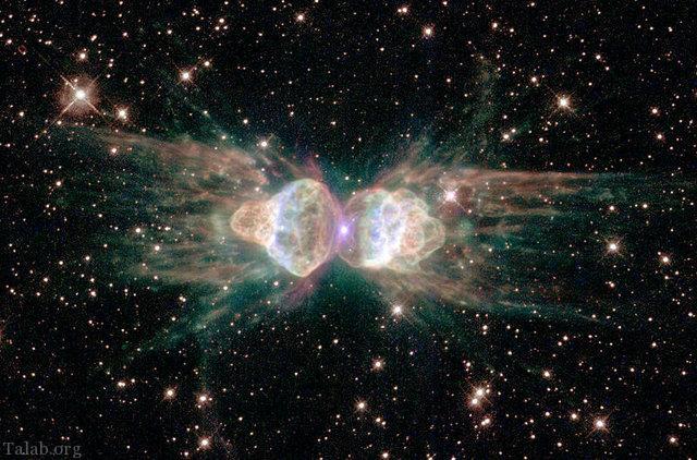 تصویری محصور کننده هابل از 2 کهکشان همسایه