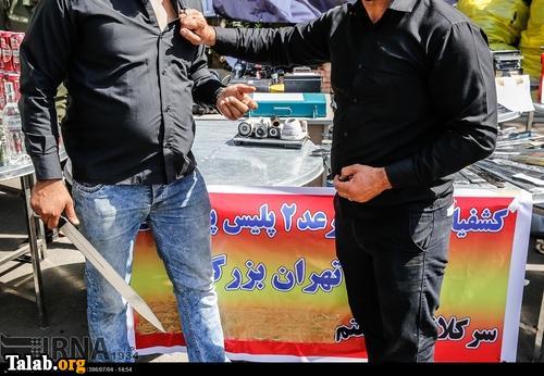 دستگیری باند خلافکاران تهران طی 24 ساعت (عکس)