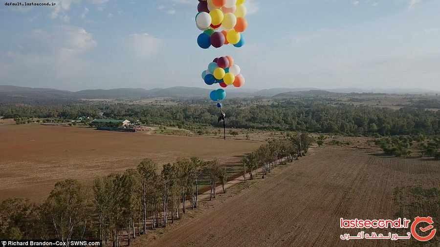 تصاویری دیدنی از تجربه پرواز با بادکنک