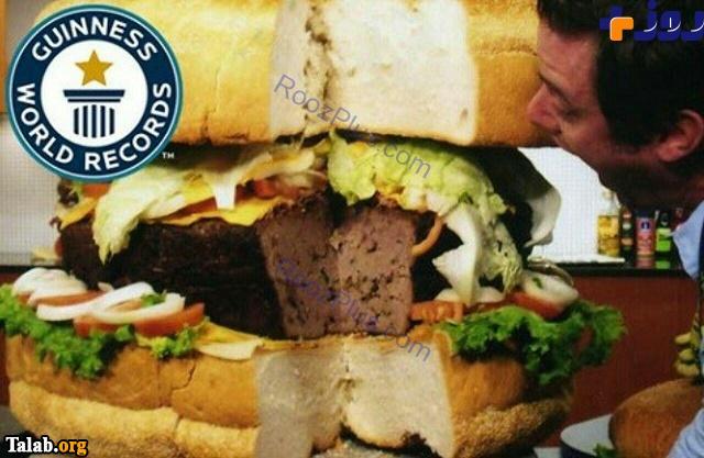 رکوردی دیگر با همبرگر 75 کیلویی (عکس)