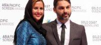 پیمان معادی در کنار همسرش در اکران فیلم سینمایی زرد (عکس)