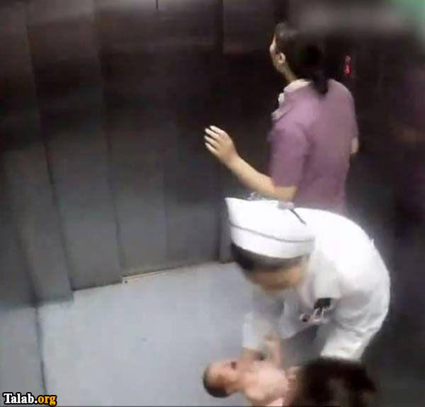 زایمان طبیعی زن چینی در آسانسور + عکس
