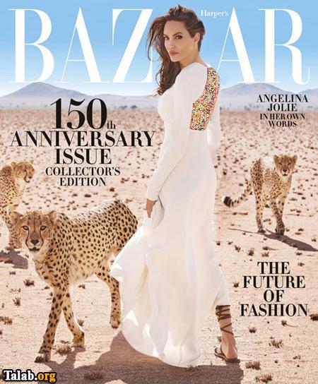 تصاویر جذاب و جدید آنجلینا جولی بر روی مجله مد