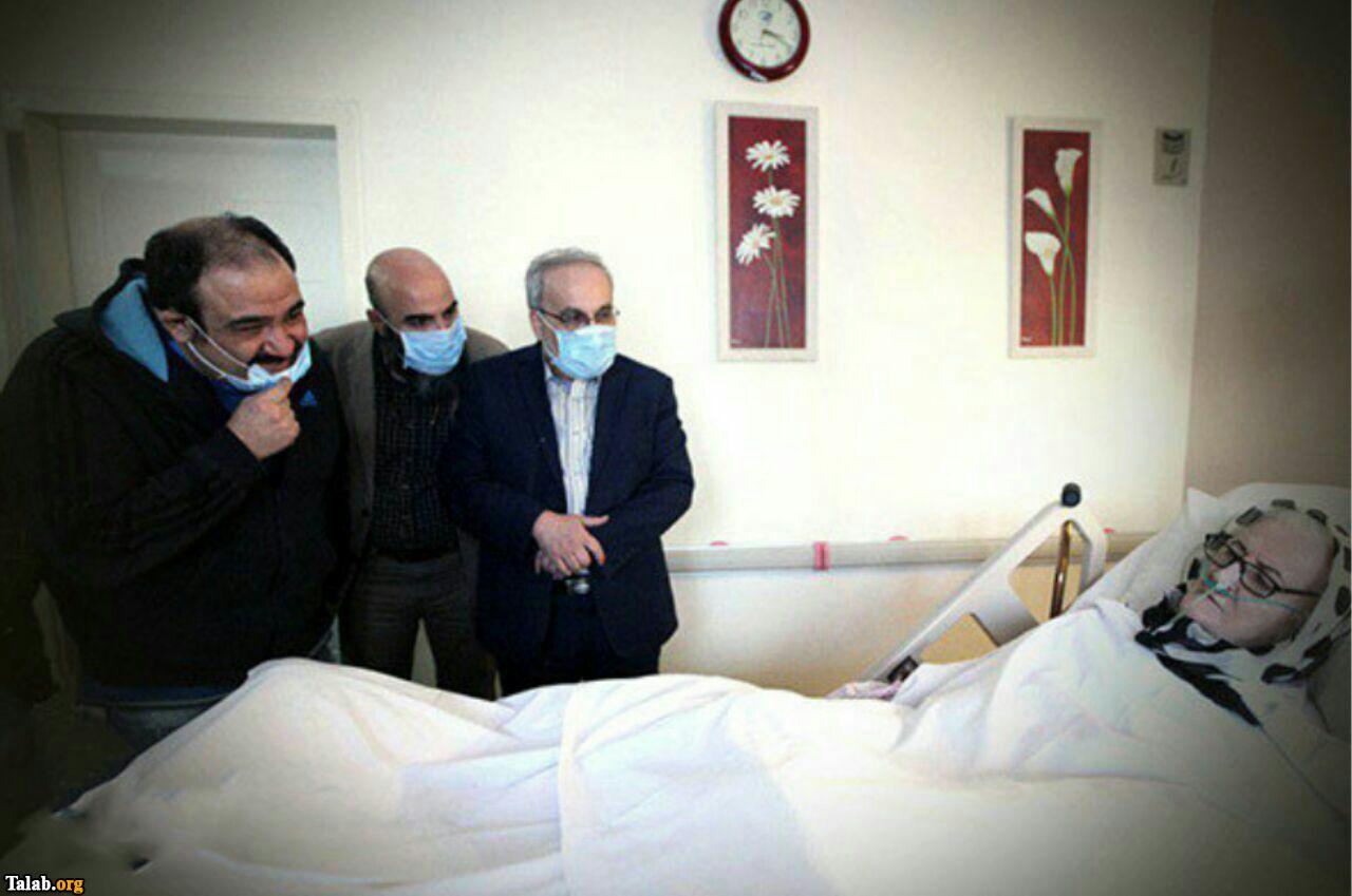 دیدار مهران غفوریان از بانو رنجبر در بیمارستان (عکس)