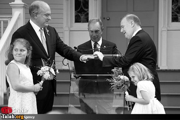 جشن و عقد ازدواج همجنس بازان در اروپا (عکس)