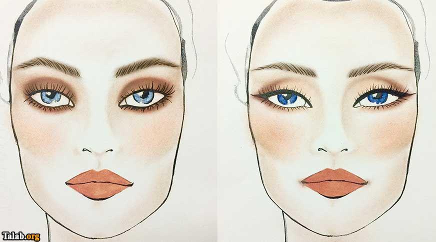 آموزش همسان کردن خط چشم با رنگ چشم