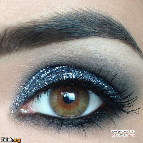 انواع شکل های آرایش چشم دودی و مدل های مختلف
