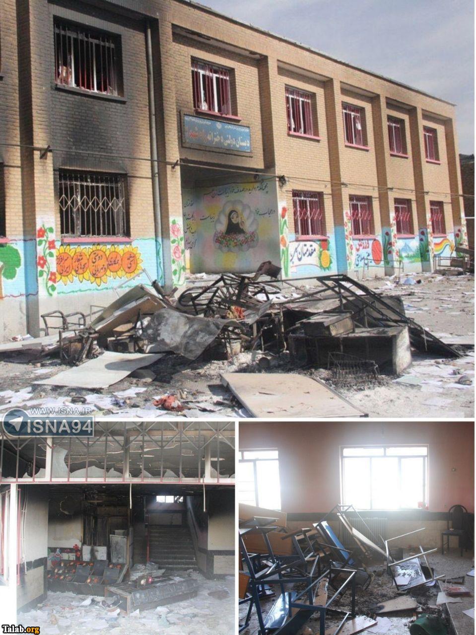 تصاویری از آتش سوزی وحشتناک مدرسه ارومیه