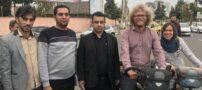 زن و شوهر آلمانی و سفر دوچرخه ای شان در ایران (عکس)