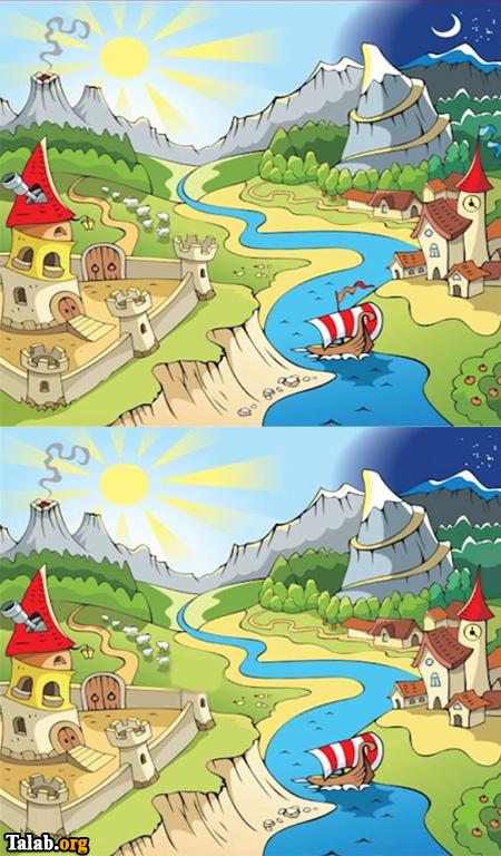 معمای دو تصویر را پیدا کنید؟ (به همراه جواب)