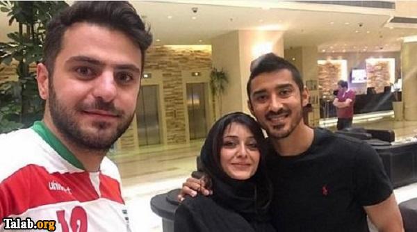 ساره بیات در بغل رضا قوچان نژاد در کنار علی ضیا (عکس)