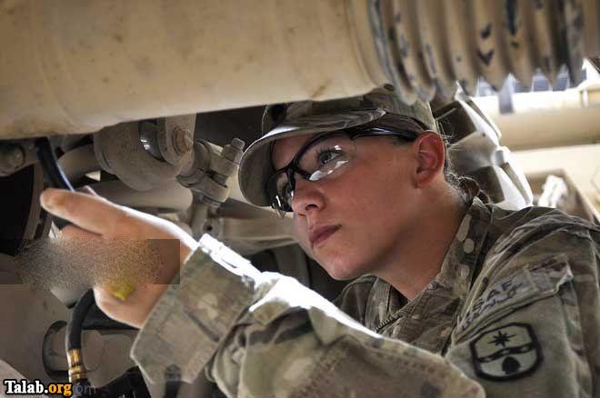 دختران زیبای جهان در خدمت سربازی