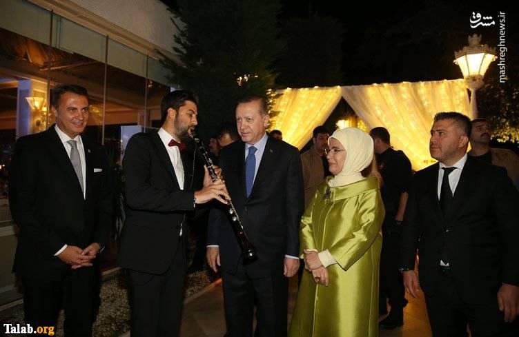 اردوغان در عروسی فوتبالیست معروف تیم ملی ترکیه (عکس)