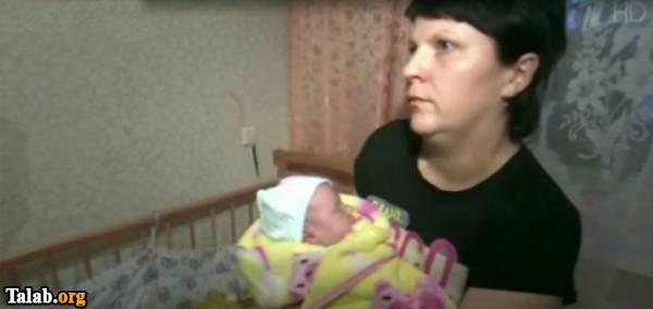 مادری که به اشتباه فرزندش را از بیمارستان تحویل گرفت (عکس)