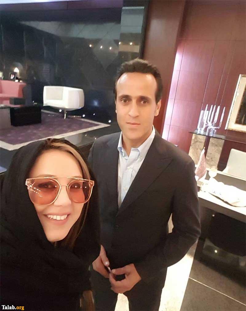 علی کریمی در کنار بهنوش بختیاری با عینک متفاوت (عکس)