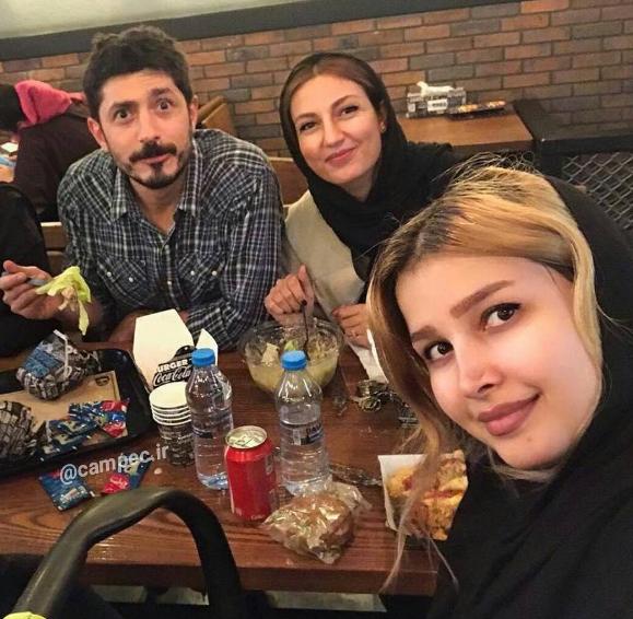 حدیث میر امینی و شوهر جدیدش در یکی از رستوران های تهران