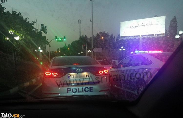 خودروهای لوکس پلیس در خیابان های تهران (عکس)