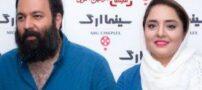 دسته گل نرگس محمدی روی سر شوهرش (عکس)