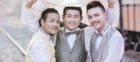 ازدواج سه مرد همجنسگرا با یکدیگر !+ عکس