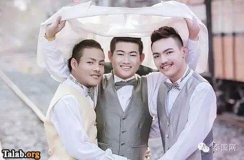 تلگرام  بازان ازدواج سه مرد همجنسگرا با یکدیگر !+ عکس