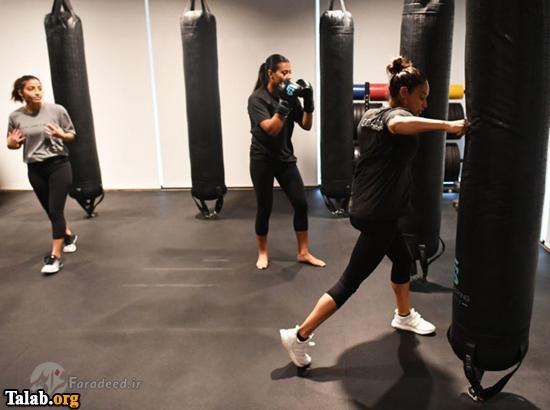 باشگاه بوکس زنان عربستانی در جده (عکس)