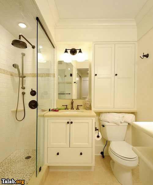 چیدمان زیبا و دیدنی حمام های کوچک
