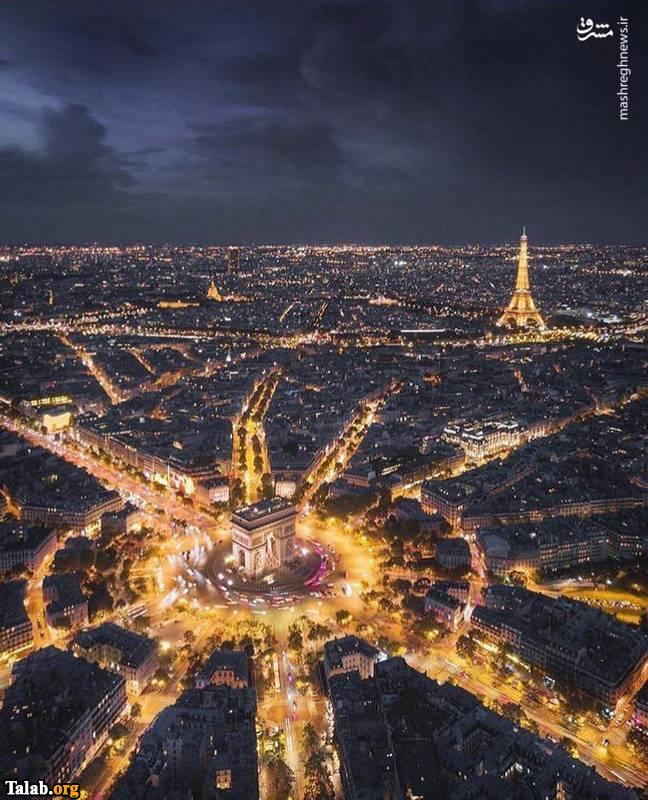نمای فوق العاده از شهر پاریسفرانسه