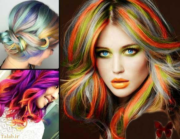 ست کردن های جدید آرایش صورت با رنگ و مدل مو عالی