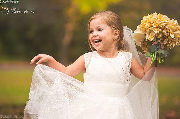 تصاویر حرفه ای از عروس خانم 5 ساله به همراه آقا داماد خردسال !
