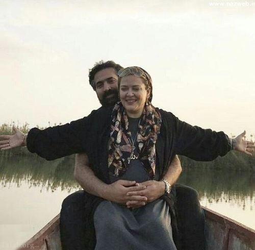 عکس داغ از بغل کردن بهاره رهنما توسط همسرش در قایق