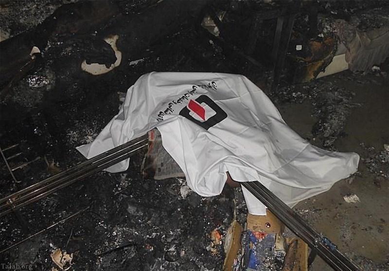 تشخیص جسد 90 درصد سوخته در خیابان تهران (عکس)