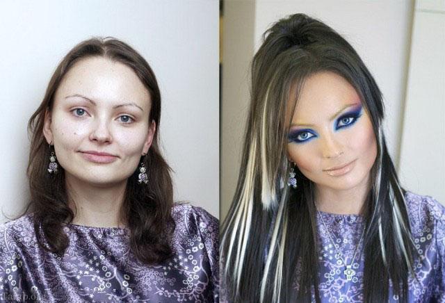 گریم حرفه ای زنان زشتی که با آرایش ملکه میشوند(عکس)