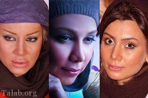 عکس های لو رفته بازیگران زن ایرانی قبل از عمل زیبایی
